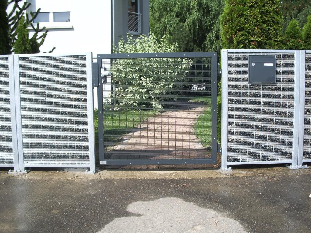 Portail et portillon en gabion stonefence for Portail portillon